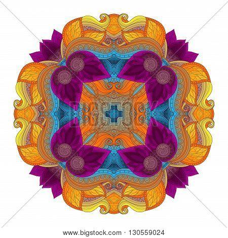 Vector Beautiful Deco Colored Contour Square