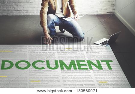 Document Forms Administrative Letters Notes Concept