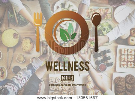 Wellness Eating Healthy Lifestyle Nutrition Concept