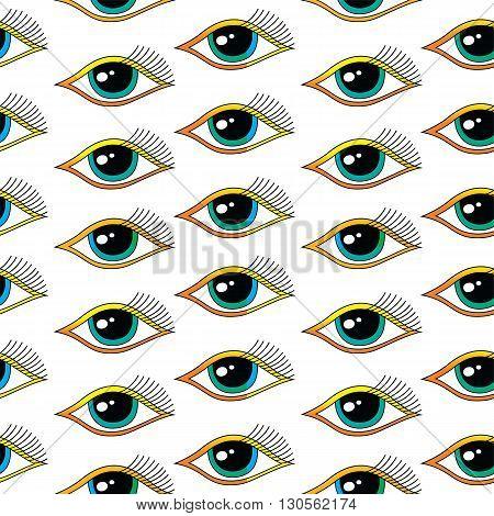 Seamless One Eye Pattern