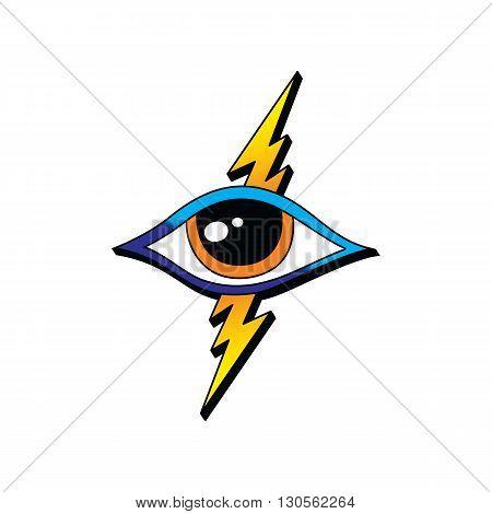 Bolt Lightning Eye Symbol Theme