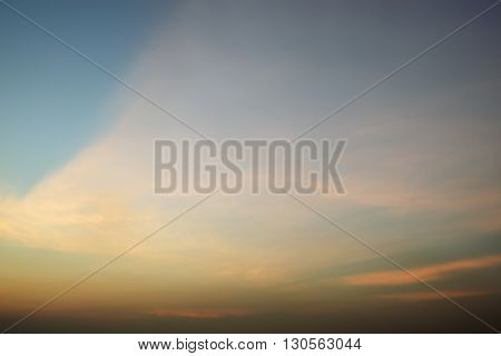 Evening sunset time with beautiful cloud scene