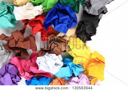 Crumpled Color Papers