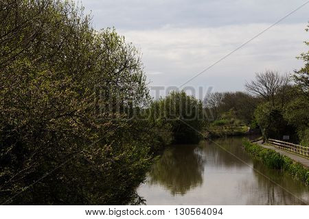View Along The Canal Path At Bude, Cornwall