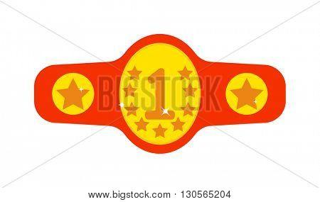 Winner belt vector illustration.