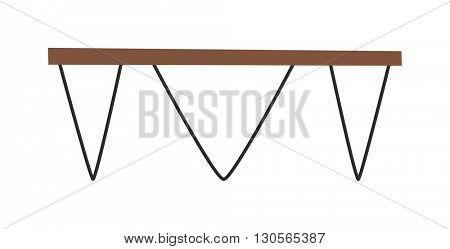 Wood table vector illustration.