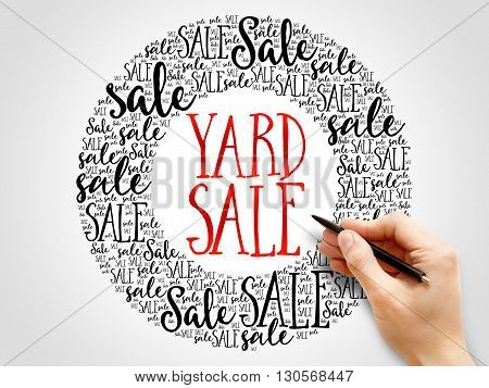 Yard Sale Words Cloud
