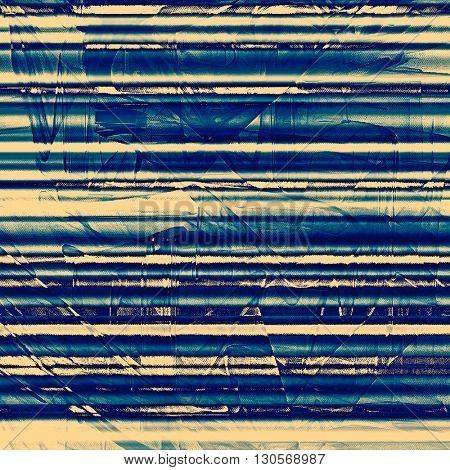Distressed grunge texture, damaged vintage background with different color patterns: yellow (beige); blue; gray; cyan