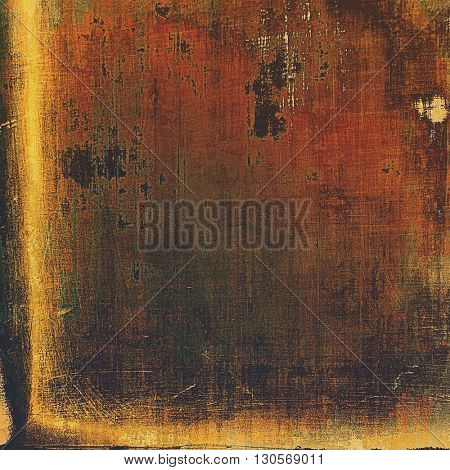 Vintage decorative texture with grunge design elements and different color patterns: yellow (beige); brown; gray; red (orange); black