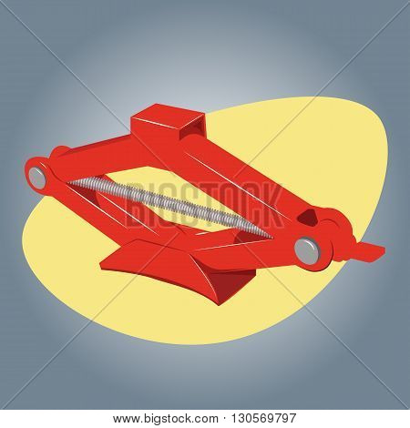 Car jack icon. Car jack service equipment