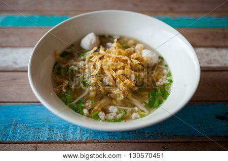 Thai Noodle Clear Soup