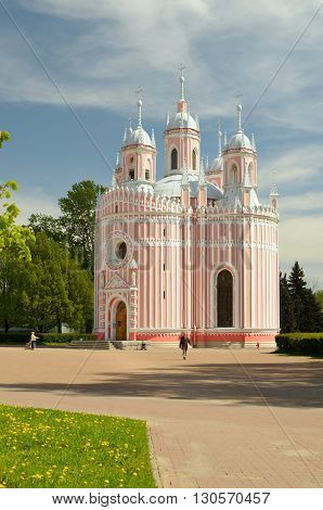 Russia.Chesme Church - active Orthodox temple in Saint-Petersburg.