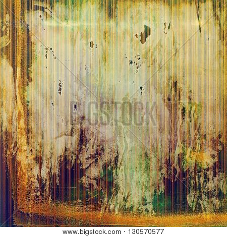 Vintage texture or antique background with grunge decorative elements and different color patterns: yellow (beige); brown; green; gray; red (orange); purple (violet)