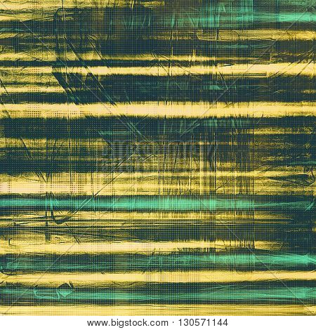 Scratched vintage colorful background, designed grunge texture. With different color patterns: yellow (beige); green; gray; black; cyan