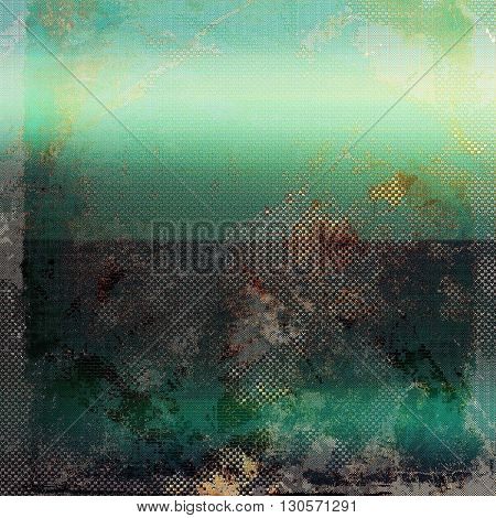 Vintage and retro design elements on faded grunge background. With different color patterns: yellow (beige); brown; green; blue; gray; cyan