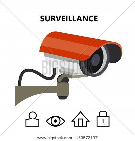 security surveillance camera isolated vector image for your projects
