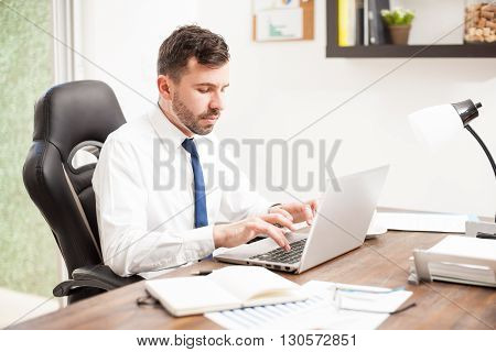 Attorney Writing A Legal Documents At Work
