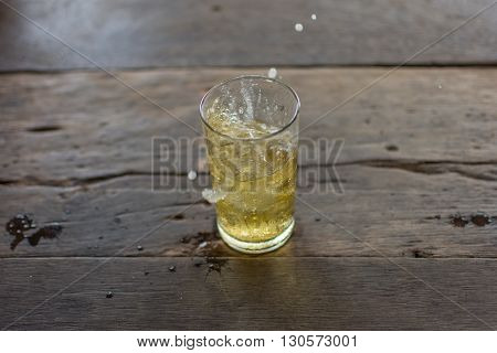 Beer Spread With Ice In Glass