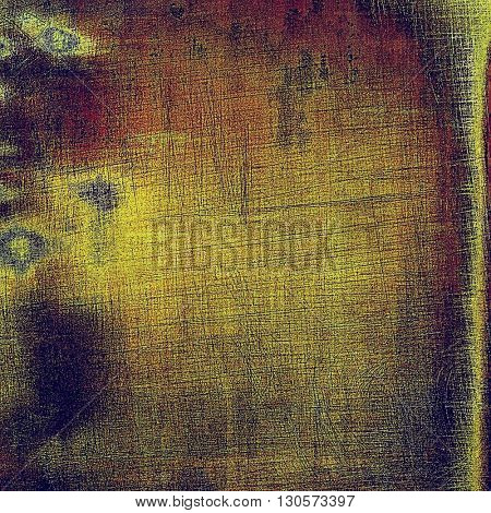 Vintage aged texture, old scratched background. With different color patterns: yellow (beige); brown; green; blue; purple (violet)