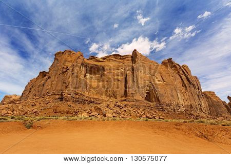 red rock formation in monument valley arizona