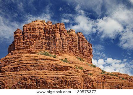 scenic view of bell rock in sedona arizona
