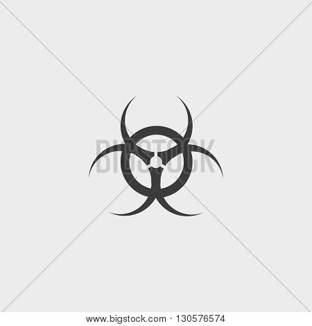 Toxic icon in a flat design in black color. Vector illustration eps10
