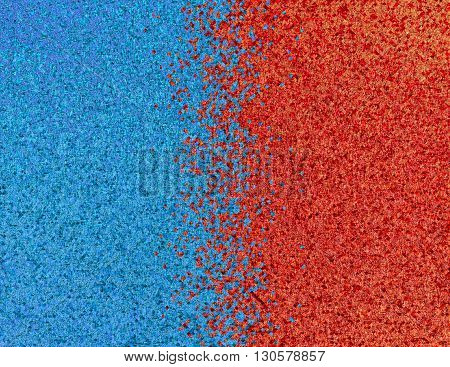 Red and blue pixel abstract background.Digitally generated image.