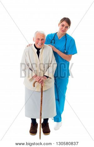 Happy Nurse And Patient