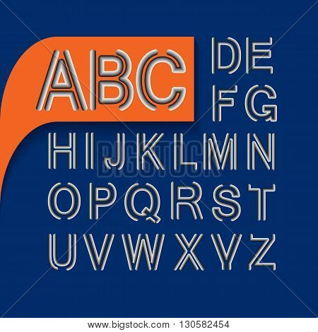 Vector alphabet.  Letters  set for your design.