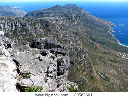 Peninsula Viewed From Table Mountain, Cape Town South Africa