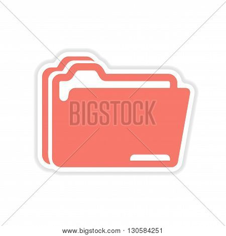 paper sticker on white  background folders for documents