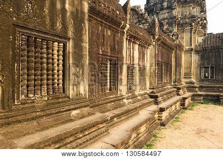 Angkor wat temple in  Siem Reap Cambodia