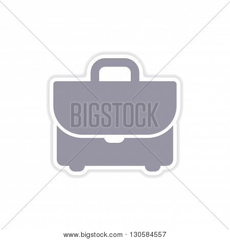 paper sticker on white  background business case