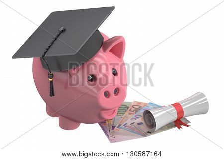 Education savings concept 3D rendering isolated on white background