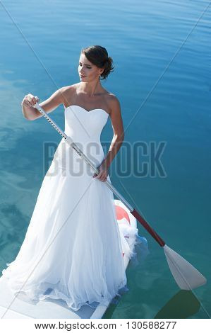 Bride Stand Up Paddleboard