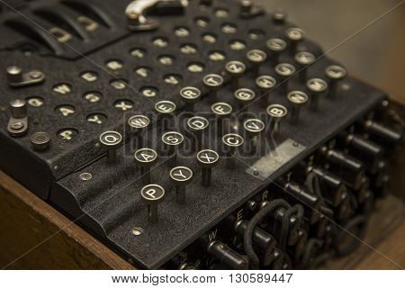Enigma, the German cipher machine created for sending messages during World War