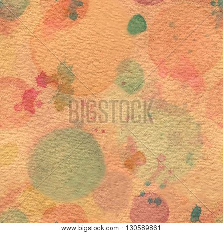 A seamless background texture coffee toned with pale pastel watercolor stains