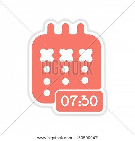 stylish paper sticker on white  background notebook