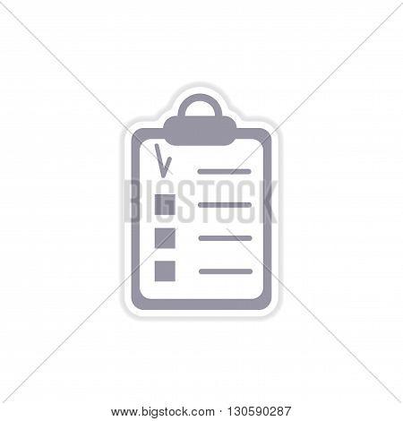 stylish paper sticker on white  background form