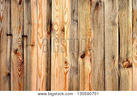 Rustic weathered barn wood background texture with knots and nail holes.