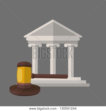 Law concept with icon design, vector illustration 10 eps graphic.