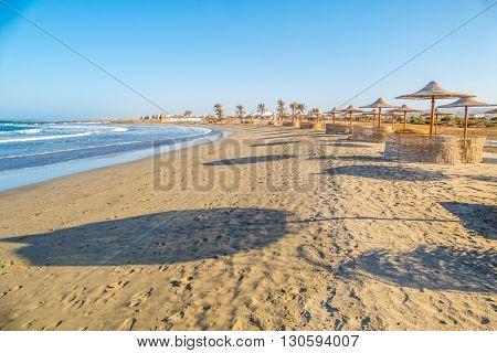 Beach in resort in Marsa Alam, Egypt