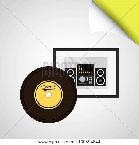Music Awards design, vector illustration eps10 graphic