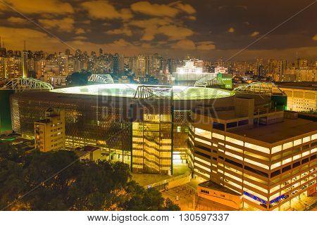 Sao Paulo - MAY 10 2016 - The Allianz Arena is a football stadium São Paulo Brazil