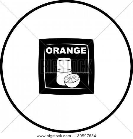 powdered orange beverage packet symbol