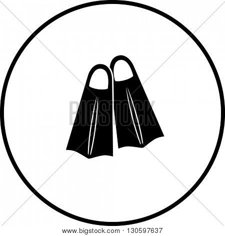 swimming fins symbol