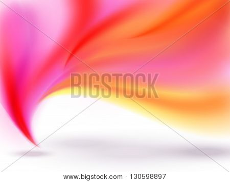 Abstract White Background With Pink And Yellow Lines And Shadows