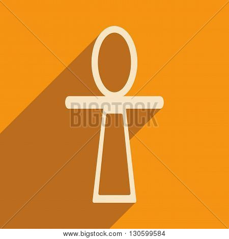 Flat with shadow icon and mobile application ancient Egypt ankh