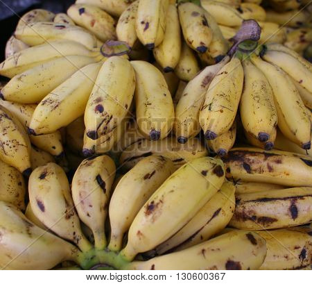 Stock of banana in market for sell.