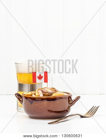 Poutine is a uniquely Canadian dish originating from the Province of Quebec.